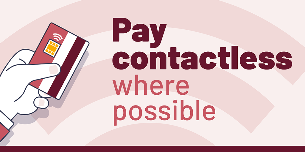 Image showing how to pay contactless