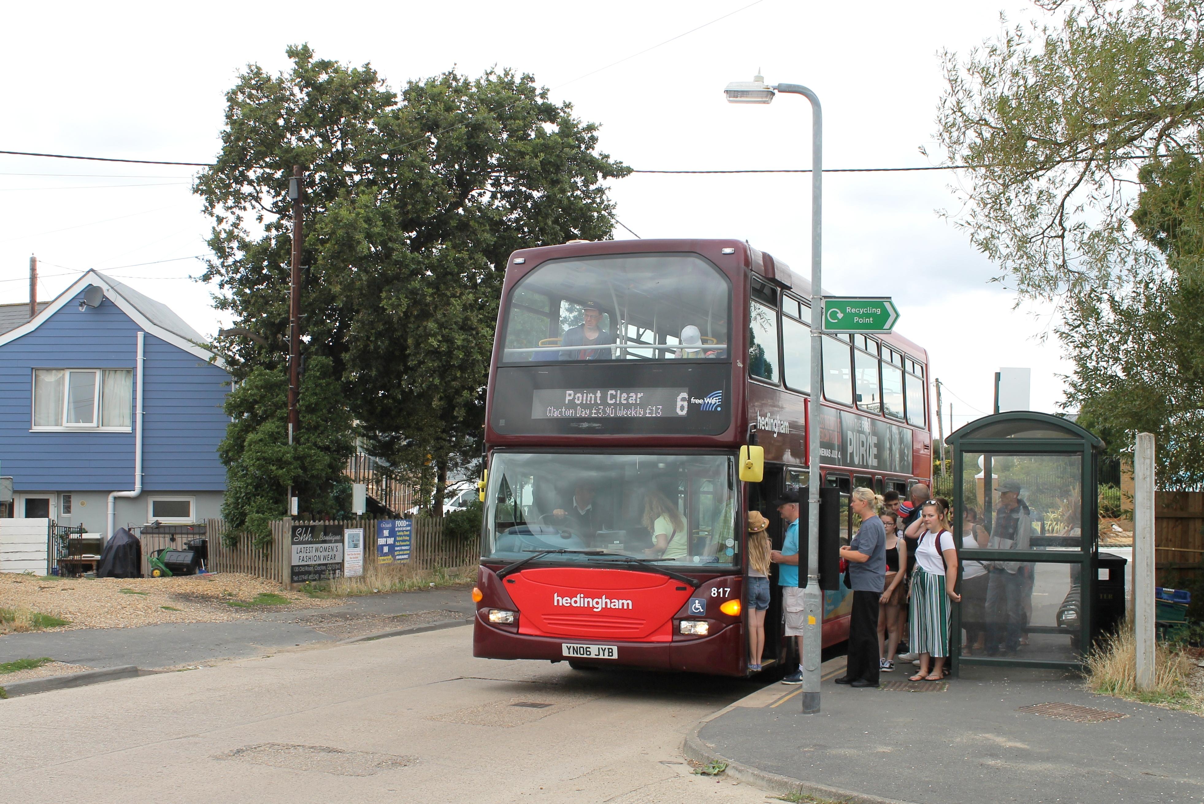 Photo of a Hedingham double decker bus