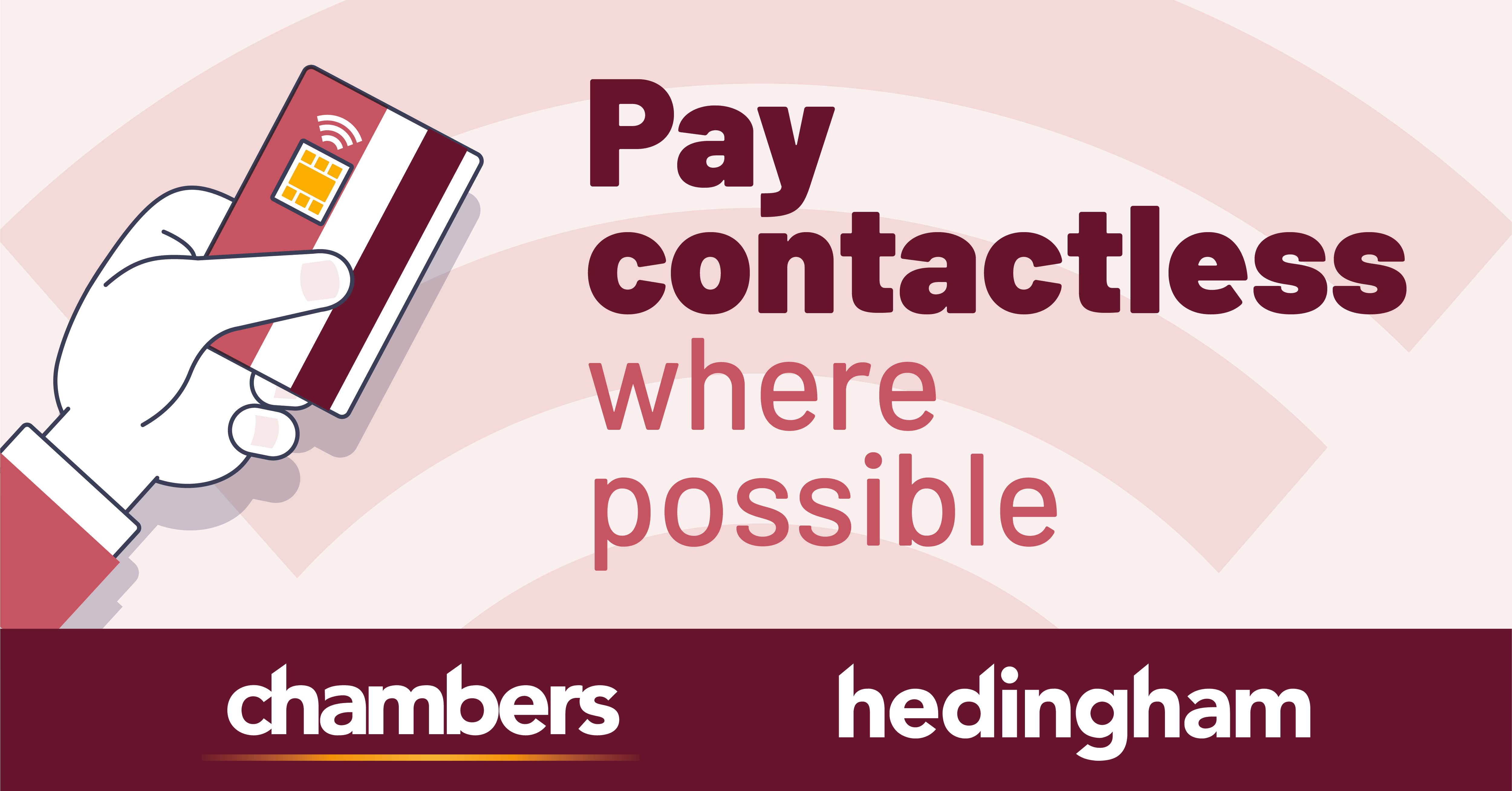 Image reading 'Pay contactless where possible'